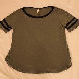 olive jersey top